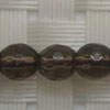 Gemstone smoky quartz beads, Faceted round, Approx 6mm, Hole: Approx 1mm, 65 pieces per strand, Sold by strands