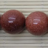 Gemstone brown goldstone beads, Smooth round, Approx 20mm, Hole: Approx 1mm, 20 pieces per strand, Sold by strands
