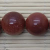 Gemstone brown goldstone beads, Smooth round, Approx 18mm, Hole: Approx 1mm, 22 pieces per strand, Sold by strands