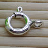 Jewelry findings, 925 sterling silver spring ring clasps, Approx 10x9x2mm, Hole: Approx 2mm, 50 pieces per bag, Sold by bags
